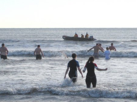 Ballycotton lifeboat crew watch over swimmers