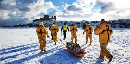Five Seahouses RNLI crew members-Large
