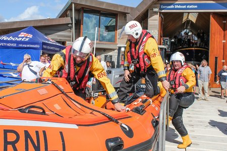 Exmouth D Class RNLI volunteers credit Geoff Bowen