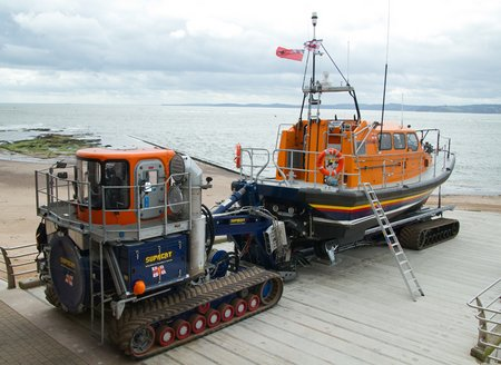 MS Shannon at Exmouth with launch and recovery vehicle Credit Nathan Williams