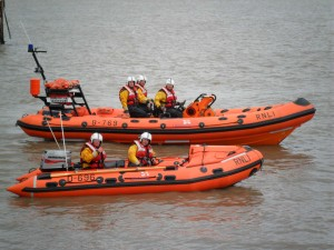 Weston-Both lifeboats together