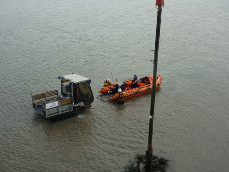 retrieving lifeboat and casualty