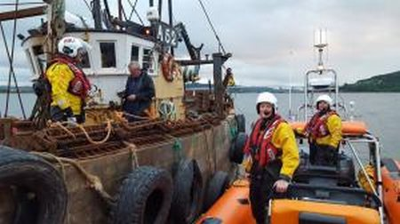 RNLI Kessock alongside Marigold-Medium